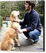 Dog Grooming Canvas Print