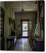 Farmhouse Entry Hall And Stairs Canvas Print