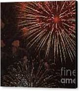 Fireworks Canvas Print by Juan  Silva