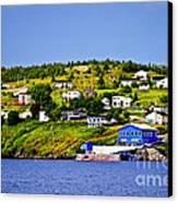 Fishing Village In Newfoundland Canvas Print by Elena Elisseeva