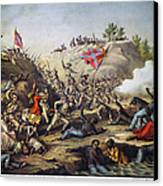 Fort Pillow Massacre, 1864 Canvas Print by Granger