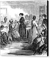 Freedmens School 1866 Canvas Print by Granger