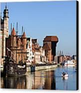 Gdansk In Poland Canvas Print by Artur Bogacki