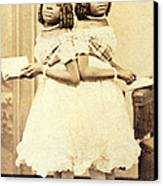 2 Headed Girl Millie-chrissie Canvas Print by Photo Researchers