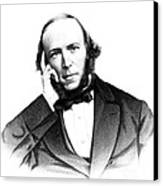 Herbert Spencer, English Polymath Canvas Print by Science Source