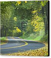 Historic Columbia River Highway Canvas Print by Alan Majchrowicz