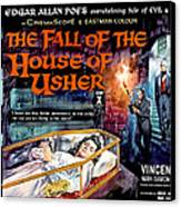 House Of Usher, Aka The Fall Of The Canvas Print by Everett