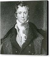 Humphry Davy, English Chemist Canvas Print