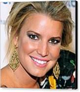 Jessica Simpson At Arrivals Canvas Print by Everett