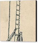 Leonardo Da Vincis Lifting Gear Canvas Print by Science Source
