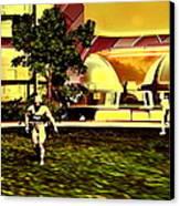 Mars Base Canvas Print by Christian Darkin