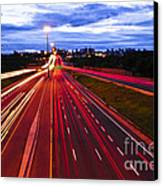 Night Traffic Canvas Print