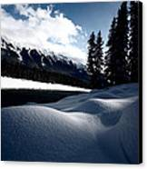 Open Water In Winter Canvas Print