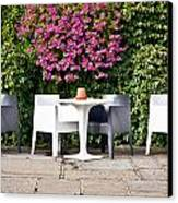 Outdoor Cafe Canvas Print by Tom Gowanlock