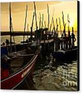 Palaffite Port Canvas Print