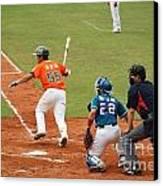 Professional Baseball Game In Taiwan Canvas Print