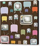 retro TV pattern  Canvas Print by Setsiri Silapasuwanchai
