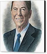 Ronald Reagan (1911-2004) Canvas Print by Granger