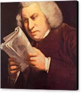 Samuel Johnson, English Author Canvas Print by Photo Researchers