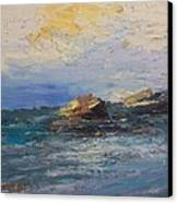 Sea Rocks Canvas Print by George Siaba