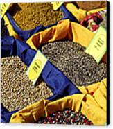 Spices On The Market Canvas Print