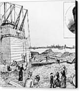 Statue Of Liberty, C1884 Canvas Print by Granger