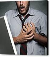 Stress-related Heart Attack Canvas Print by Mauro Fermariello