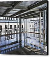 Structural Steel Construction. Metal Canvas Print by Don Mason