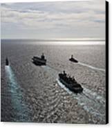The Enterprise Carrier Strike Group Canvas Print