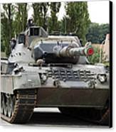 The Leopard 1a5 Of The Belgian Army Canvas Print