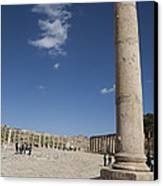The Oval Plaza In The Ruins Canvas Print