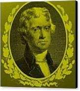 Thomas Jefferson In Yellow Canvas Print