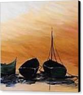 Threes Company Canvas Print by Siobhan Lawson
