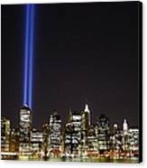 Tribute In Light 2010 Canvas Print by Christopher Kirby