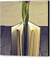 Tulip In A Book Canvas Print by Joana Kruse