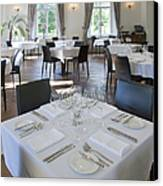 Upscale Hotel Dining Room Canvas Print by Jaak Nilson