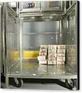 Us Dollar Bills In A Bank Cart Canvas Print