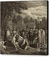 William Penn, Founder Of Pennsylvania Canvas Print by Photo Researchers