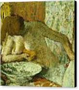 Woman At Her Toilet Canvas Print