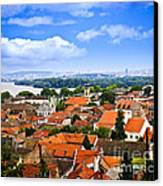 Zemun Rooftops In Belgrade Canvas Print