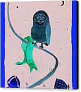 2008 Owl Negative Canvas Print by Lilibeth Andre