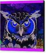 2011 Dreamy Horned Owl Negative Canvas Print by Lilibeth Andre