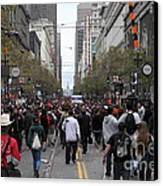 2012 San Francisco Giants World Series Champions Parade Crowd - Dpp0002 Canvas Print by Wingsdomain Art and Photography