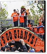 2012 San Francisco Giants World Series Champions Parade - Dpp0004 Canvas Print by Wingsdomain Art and Photography