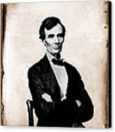 Abraham Lincoln, 16th American President Canvas Print by Photo Researchers