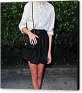 Alexa Chung Wearing A 3.1 Phillip Lim Canvas Print