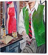 Bar 2 Canvas Print by Kostas Dendrinos