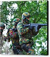 Belgian Paratroopers Proceeding Canvas Print