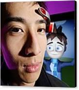 Brainwave-reading Headset Canvas Print by Volker Steger