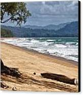 Deserted Beach In Phuket In Thailand Canvas Print by Zoe Ferrie